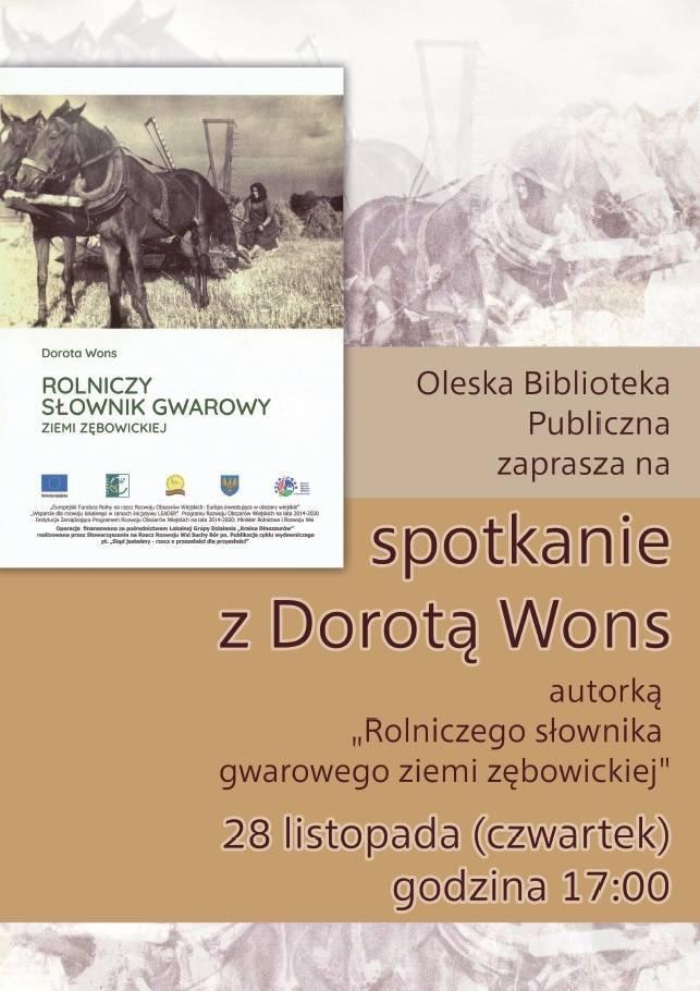 Spotkanie z Dorotą Wons