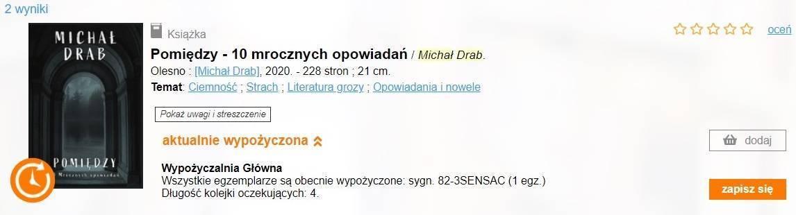 Michał Drab - Pomiędzy. Nie tak łatwo wypożyczyć tę książkę