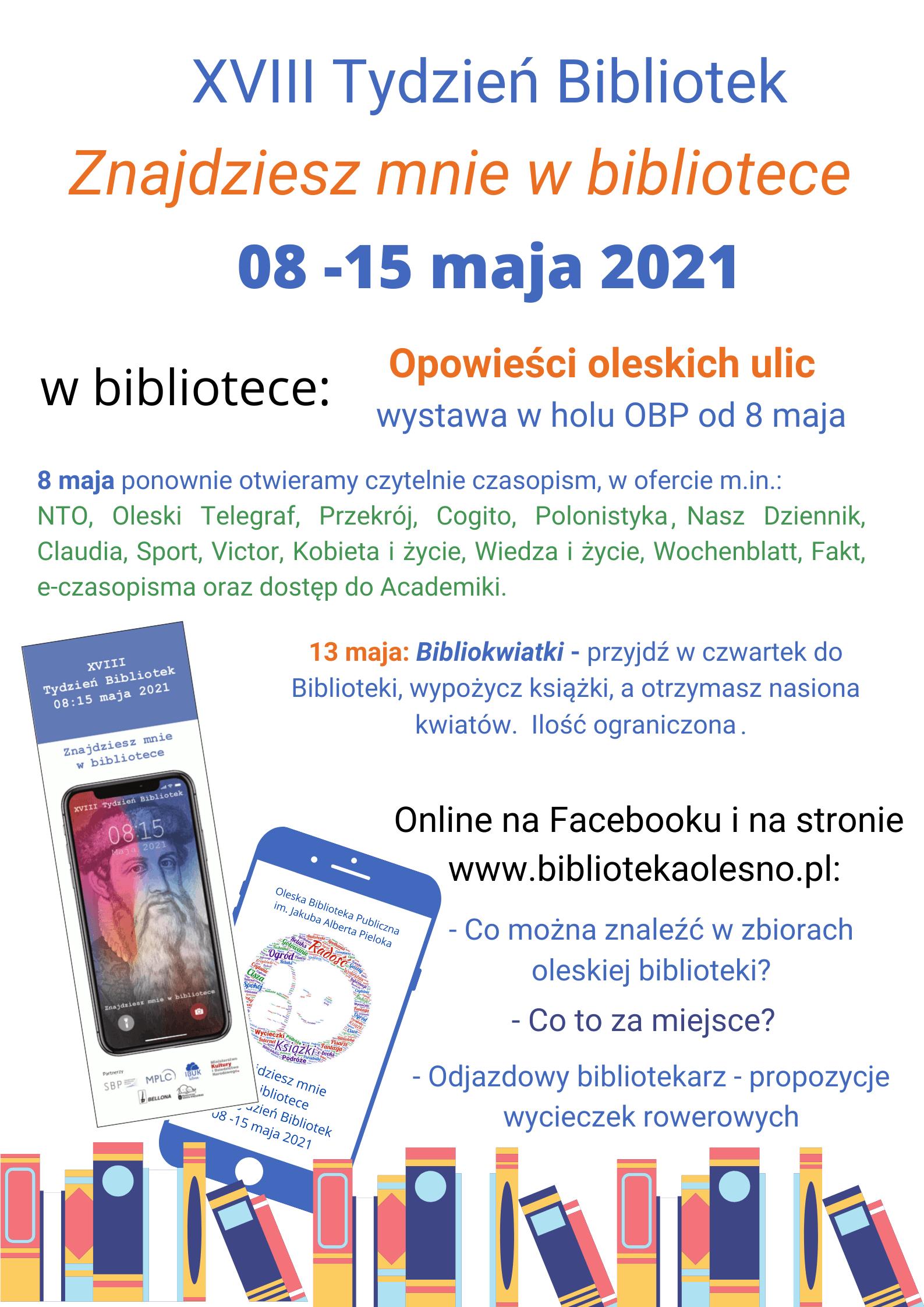 Tydzień Bibliotek 8-15 V 2021