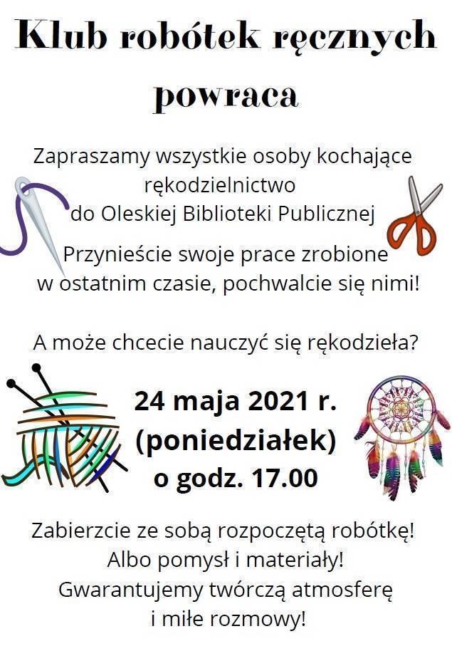 Klub Robótek Ręcznych 24 V 2021 r.