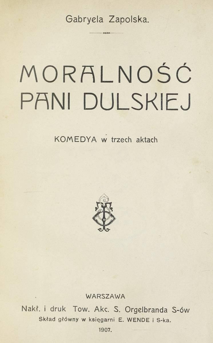 Moralność pani Dulskiej 1907