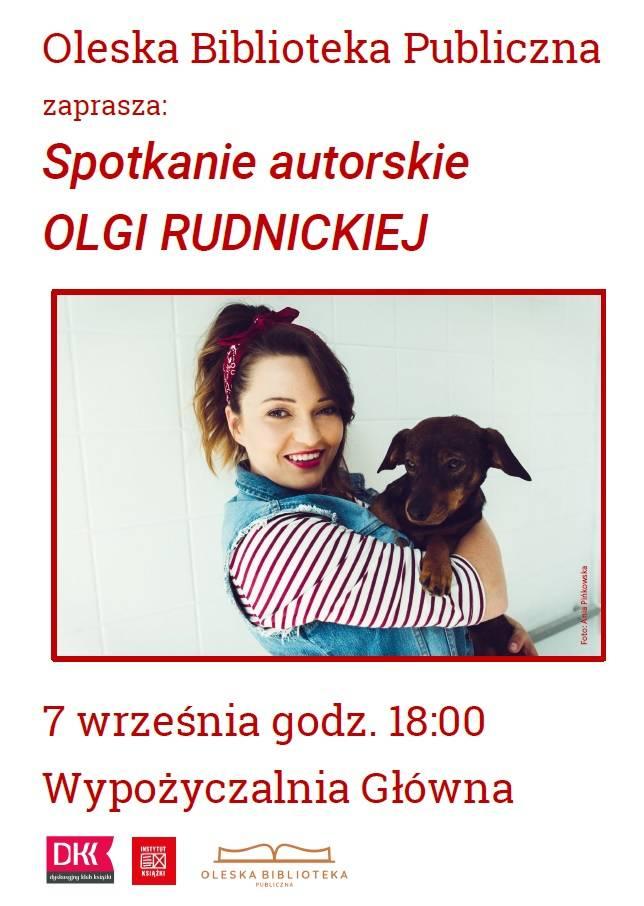 Olga Rudnicka - spotkanie autorskie w OBP