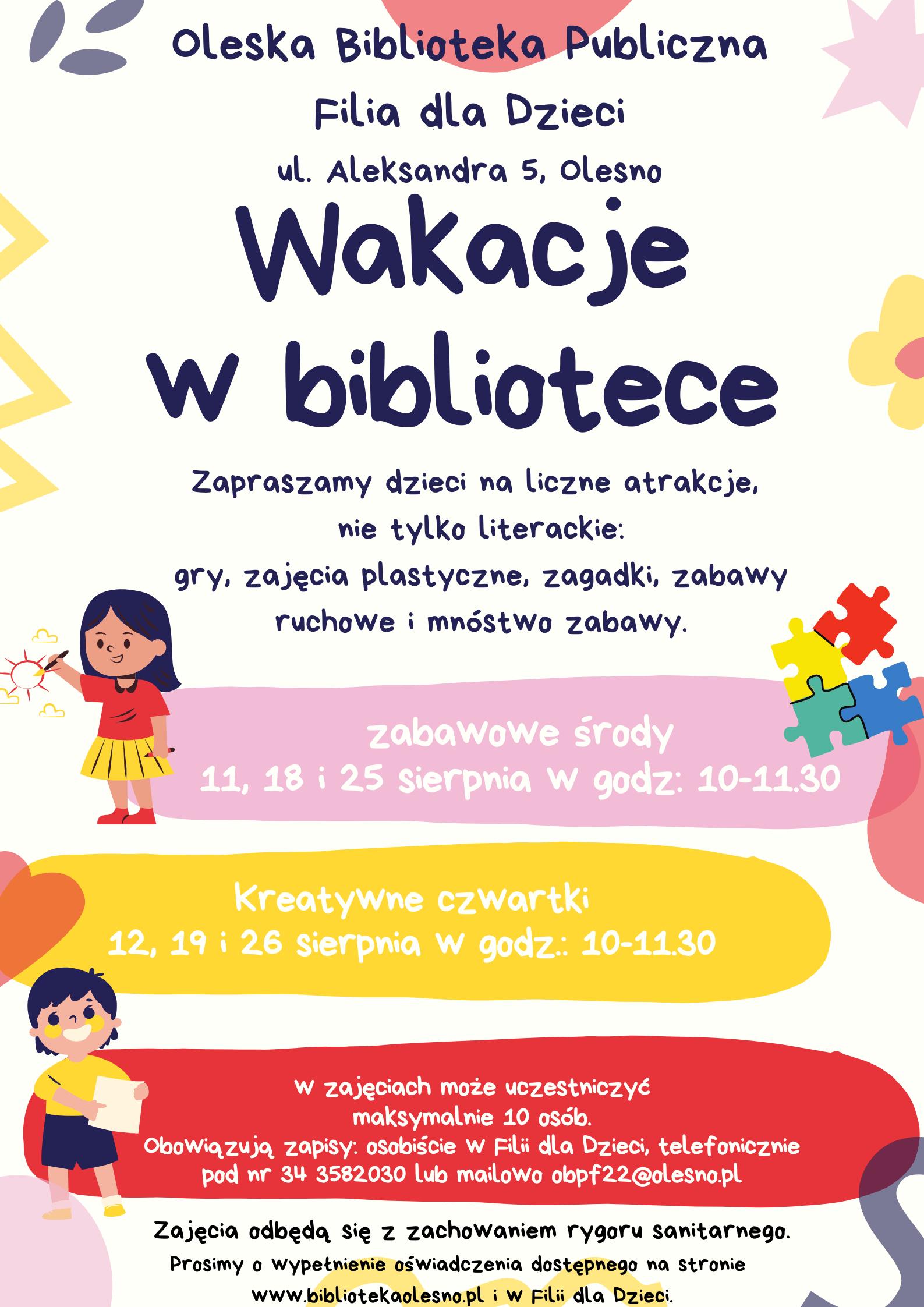 Wakacje w Filii dla Dzieci 2021