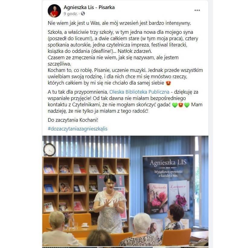 Agnieszka Lis na FB