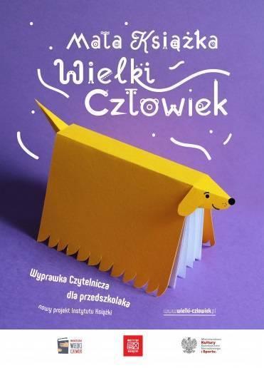 Mała Książka, Wielki Człowiek 2021-2022 -plakat akcji